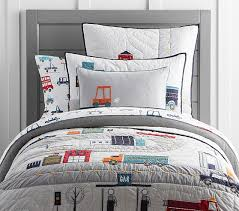 things that go quilted bedding pottery barn kids big boy room