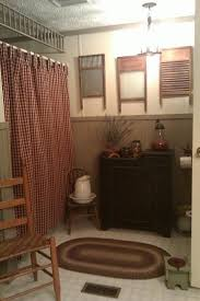 Spring Tension Curtain Rods Extra Long by Burlap Shower Curtain Rustic Country French Chic 45 Bathroom