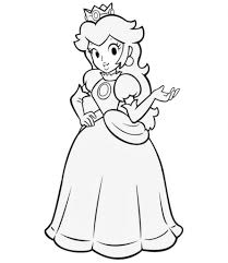 12 Pics Of Super Mario Princess Peach Coloring Pages For Page