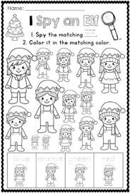Christmas Printables For Pre K And Kindergarten Students To Help Revise Color Words As Well