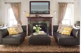 brown leather sofa living room ideas centerfieldbar com