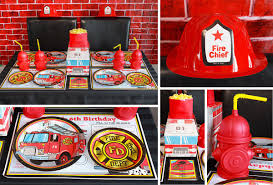 100 Fire Truck Plates Man Party Ideas Party Ideas At Birthday In A Box