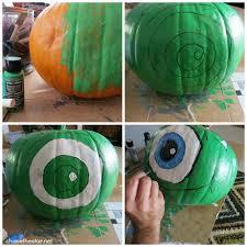 Mike Wazowski Pumpkin Carving Patterns by Monsters University Painted Pumpkin