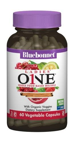 Bluebonnet Ladies One Whole Food-Based Multiple, 60 Veg Capsules