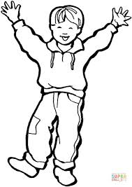 Click The Happy Little Boy Coloring Pages