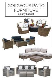 Affordable Outdoor Conversation Sets by Martha Stewart Living Blue Hill 6 Piece Outdoor Deep Seating Set