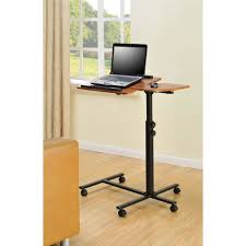 Walmart Computer Desk With Side Storage by Table Appealing Rolling Laptop Cart With Storage Multiple Finishes
