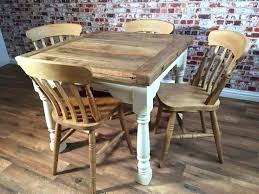 Rustic Farmhouse Dining Table With Bench Extending Set Drop Leaf Painted In