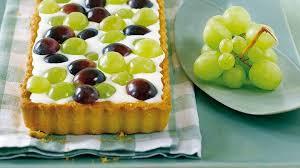 weintrauben tarte mit prosecco creme