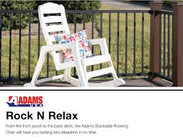 Adams Mfg Corp Stackable Plastic Rocking Chair(s) With Solid Seat At ... Shop White Acacia Patio Rocking Chair At High Top Chairs Best Outdoor Folding Ideas Plastic Walmart Simple Home The Discount Patio Rocking Lovely Lawn 1103design Porch Resin Wicker Regnizleadercom Fniture Lounger Adirondack Cheap Polyteak Curved Powder Looks Like Wood All Weather Waterproof Material Poly Rocker And Set Tyres2c Chairs Poolterracebarcom Adams Mfg Corp Stackable With Solid Seat At Java 21 Lbs