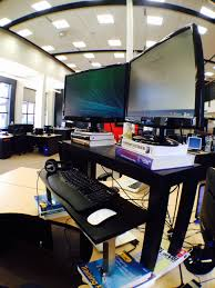 Dual Monitor Standing Desk Attachment by Dual Monitor Standing Desk U2013 Rob Villeneuve U2013 Medium