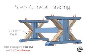 trestle coffee table free diy plans rogue engineer