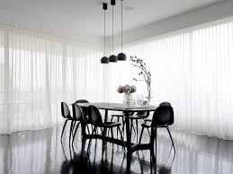 Modern Dining Room Curtain Ideas Contemporary With Pendant Lighting Sheer Curtains