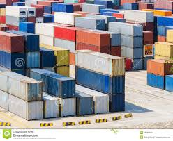 100 10 Wide Shipping Container Yard Stock Photo Image Of Industry Freight 38399604