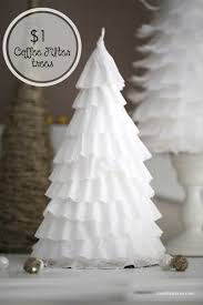 Silver Tip Christmas Tree Los Angeles by Diy 1 Coffee Filter Trees Coffee Filters Coffee And Christmas Tree