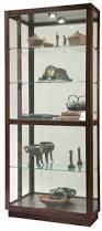 Curved Glass Curio Cabinet by Howard Miller Bradington 680 395 Curved Glass Curio Cabinet