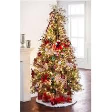 Pre Lit Quick SetTM Jasper Cashmere Artificial Christmas Tree Clear Lights By AshlandTM