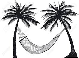 palm tree Hammock Stock Vector