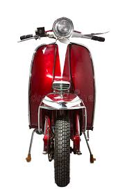 Download Vintage Red Scooter Front Stock Photo Image Of