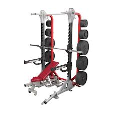 Commercial Half Rack With Plate Storage Sparks Fitness Equipment
