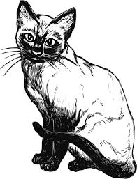 Cat black and white cat clip art black and white free clipart