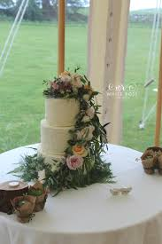 Rustic Wedding Cake With Fairytale Fresh Flowers By White Rose Design Bespoke Makers