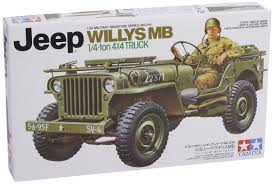 Amazon.com: Tamiya Jeep Willys 1/4 Ton 4 X 4 Hobby Model Kit: Toys ...