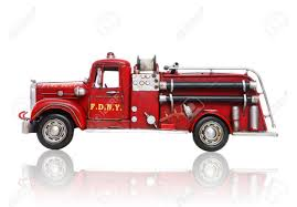 100 Old Fire Trucks An Vintage Truck Isolated Over White Stock Photo Picture