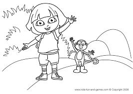 Free Coloring Pages Image Dora Games Download