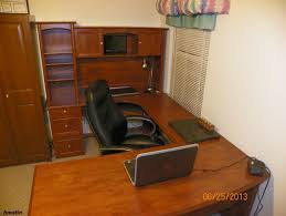 Realspace Broadstreet Contoured U Shaped Desk by Izayn Com New U Shaped Office Executive Desk With Hutch Maple