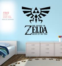 Zelda Triforce Lamp Uk by The Legend Of Zelda Breath Of The Wild Wall Decal Sticker By