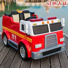 100 Kids Electric Truck Fire Ride On Toy Car For Babies Toys