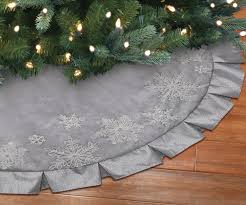 White Christmas Tree Skirt Walmart by Holiday Time Linen Christmas Tree Skirt Walmart Canada