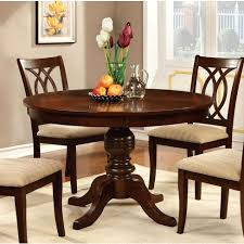 Round Table Top With Pedestal Dining Wood Brown Cherry