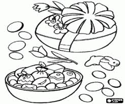Two Large Easter Eggs With Small Chocolate Inside Coloring Page