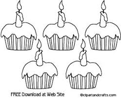 5 cupcakes coloring sheet printable party activity