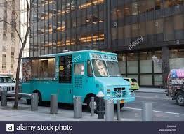 A Food Truck On Water Street In Lower Manhattan, New York City Stock ...