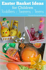 These Simple Themed Easter Baskets For Toddlers Tweens And Teens Go Together In Minutes