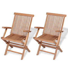 Foldable Wooden Chairs Set In/Outdoor Garden Patio Furniture ...