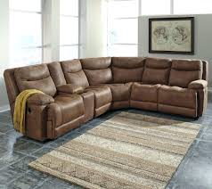 Darrin Leather Reclining Sofa With Console by Leather Sofa Recliner Review Centerfieldbar Com