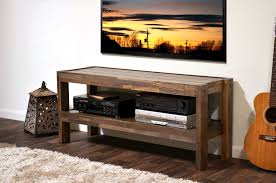Rustic Reclaimed Barn Wood Style TV Stand