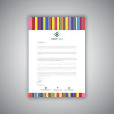 Business Letterhead With Stripes Design Download Free Vector Art