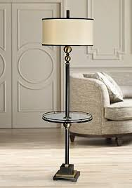 Vintage End Table With Lamp Attached by Floor Lamps With Tray Table Lamps Plus