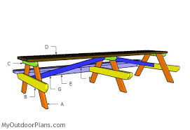 Plans To Build A Wooden Picnic Table by 12 Foot Picnic Table Plans Myoutdoorplans Free Woodworking