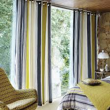 Blue Vertical Striped Curtains by Yellow And White Vertical Striped Curtains Curtain Best Ideas