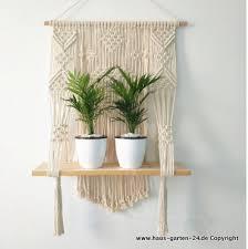makramee pflanzen regal 50x70cm wohnzimmer dekoration