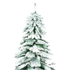 Fake Trees With Snow Covered Artificial Flocked Alaskan Christmas Tree Pre Lit 2