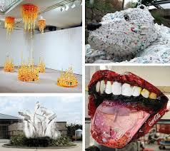 Different Art Mediums Trash Installation