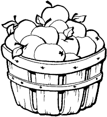 Printable Apple Coloring Pages In The Basket