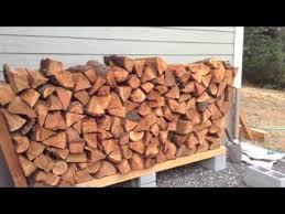 ingenious diy firewood rack no tools cheap youtube